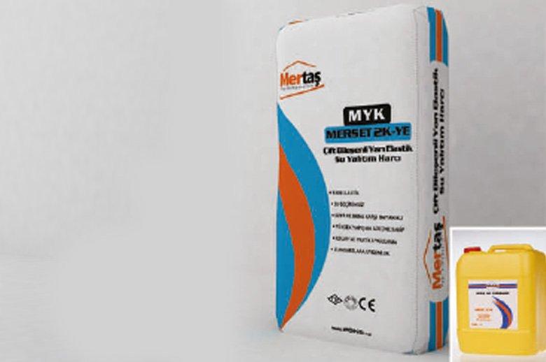 MYK MERSET 2K-YE -Çift Bileşenli Yarı Elastik Su Yaltım Malzemesi